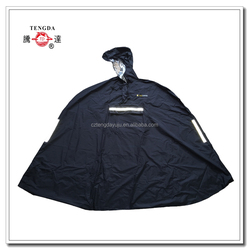 raincoat factory OEM bicycle rain poncho with reflective tapes