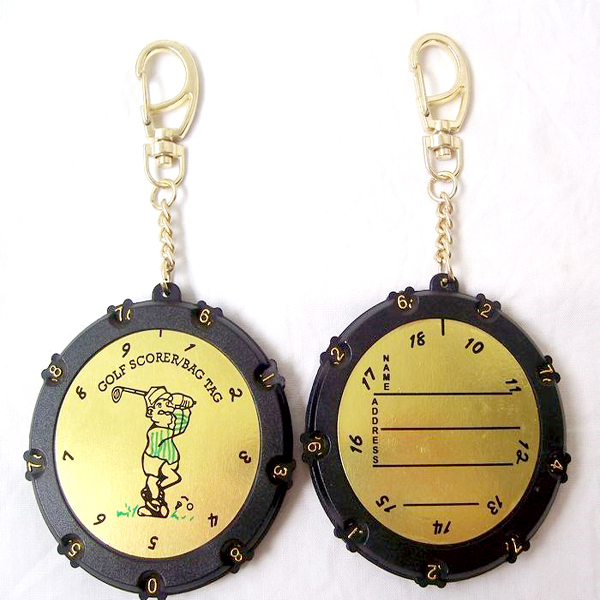Factory hot selling bag tag 18 hole golf Scorer