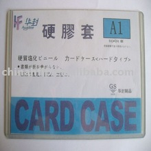 high quality a4 hard pvc clear plastic card case