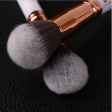 Top quality 10pcs/bundle classic mable handle face makeup beauty cosmetic tool professional makeup brushes wih custom logo