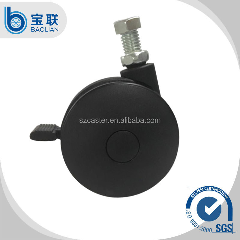 High quality <strong>M10</strong>*15mm screw type 3 inch locking furniture caster
