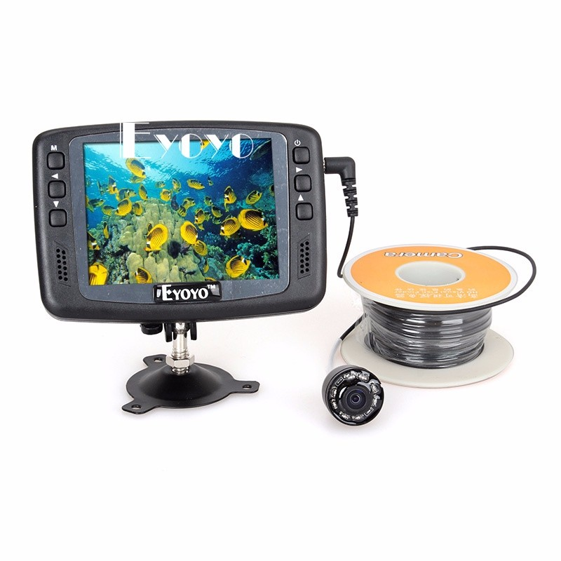 "3.5"" LCD 30M Underwater Camera ICE/SEA FISHING Fish Finder Easy install on Rod"