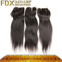Soft Dread Hair Closure Pieces For Black Women, 4*4 Straight Lace Closure