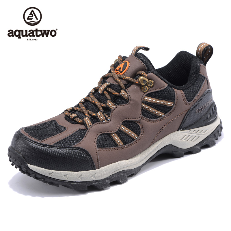 Fashionable Aquatwo Brand Outdoor Waterproof Hiking Rock Climbing Shoes for Men