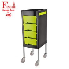 New styling Beautiful rolling salon trolley with 4 drawers