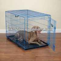 Folding Pet Crate Dog Cage Kennel with Metal Tray