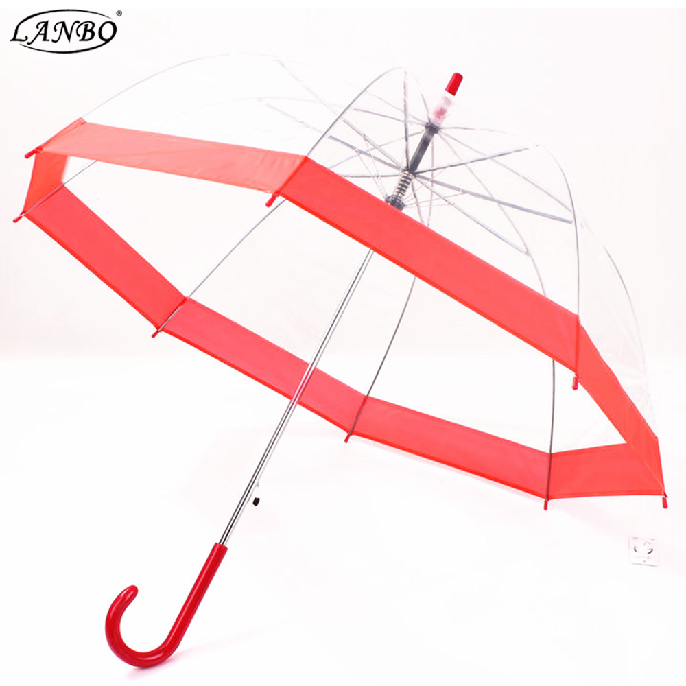 Dome transparent rubber duck clear bubble Umbrellas with silk printing