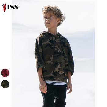Children's sweater custom camouflage children's clothing sweater pullover hooded sweater