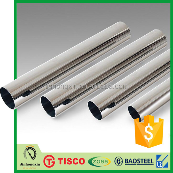 316L stainless steel straight welded pipe tube Chinese factory price list