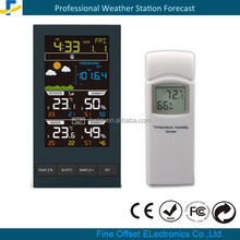2016 new design color portable wireless digital weather station with thermometer