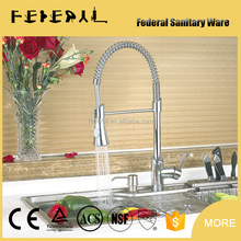 Factory wholesale custom single handle deck down mixer brass kitchen sink european faucet
