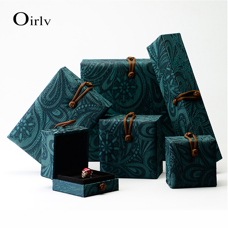 China Factory Customized Handmade Vintage Style Jewellery Gift Boxes for Jade Stone Wholesale Custom Jewelry Box