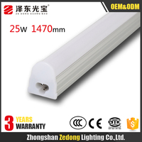 1500mm 5ft led linear light 25w 220v integrated t5 led tube lighting with 3 years warranty applicable to supermarket shopping