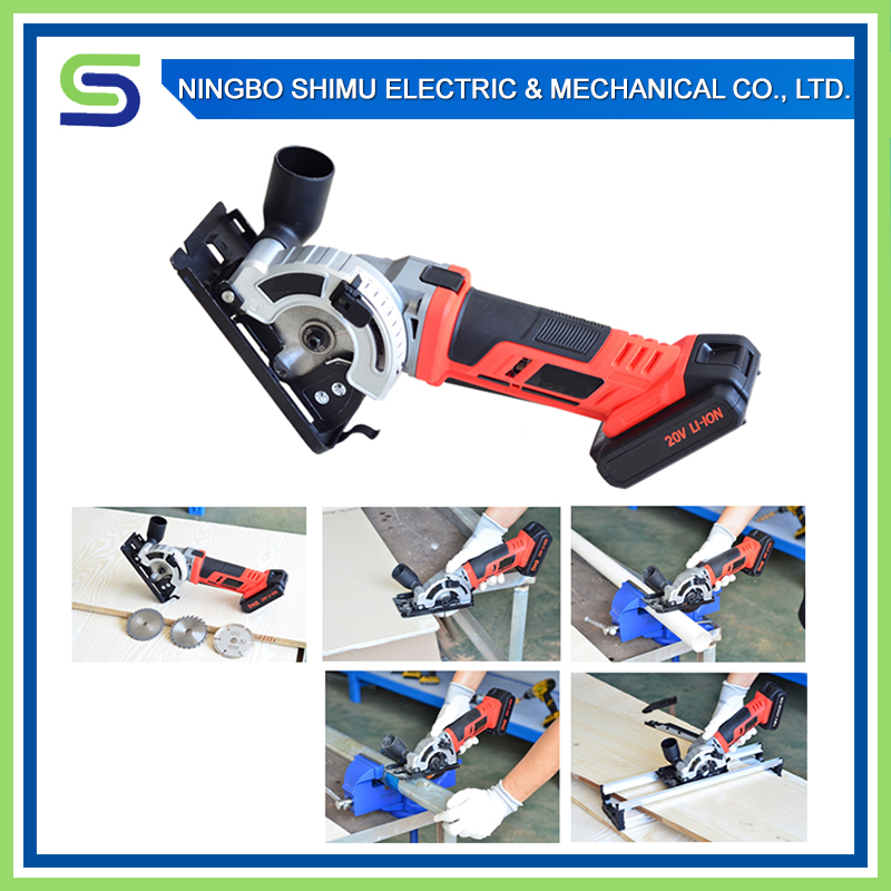 Cordless reciprocating circular mini electric saw