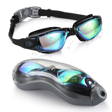 Amazon Hot Sale Swim Goggles, Swimming Goggles No Leaking Anti Fog UV Protection Triathlon Swim Glasses with Protection Case