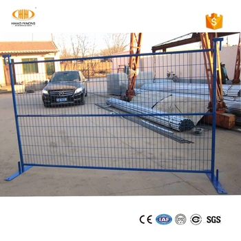 """Hot dipped galvanized hdg crowd control irrigation work Canada temporary construction fence panels"""
