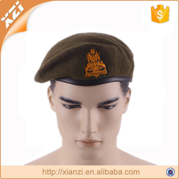 Usa knitted beret army black beret embroidery military beret