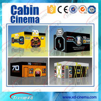 Hydraulic motion 5D Cinema chairs 7D Cinema 9D Truck Mobile 9D Cinema trailer