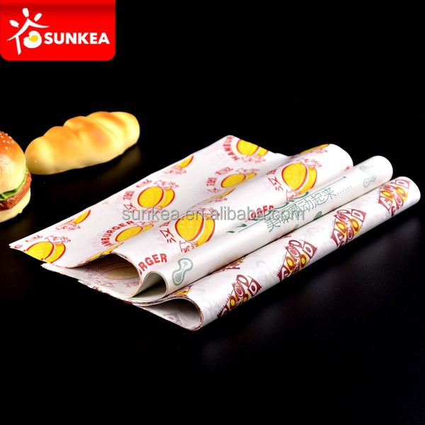 Custom printed colored food grade waxed paper for food