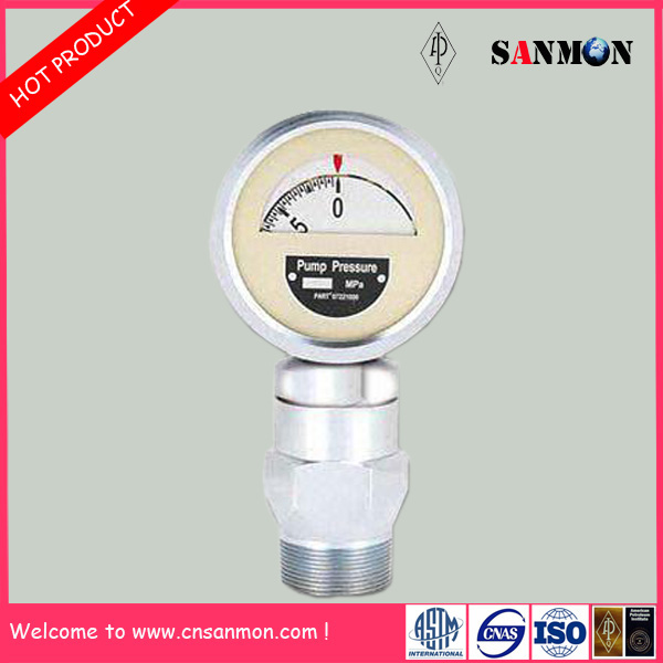Standard API Certification Mud Pump Shock Resistant Pressure Gauge