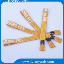 Holywish Promotional Event One Time Use Fabric Wristband With Buckle