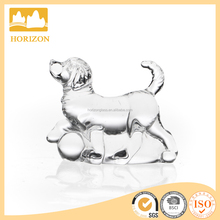 children fancy hotsale wholesale little dog shaped chritsmas glass ornament clear glass home use decoration