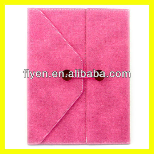 Stylish Envelope Protective Jeans Leather case for iPad for ipad 4 ipad 3 ipad 2 smart cover Magnetic Leather Case