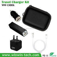 gift kit Factory selling 5V2A dual USB wall charger for monile phone