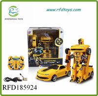 Remote control car rc robot 2.4G car transform robot toy