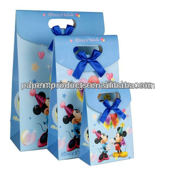 Multi-color Charms Paper Bags, Small Accessories Bags Wholesale Lots