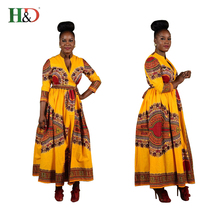 H & D China Wholesale Fashion Clothing 2017 Floral Woman Designs Traditional African Dress For Ladies