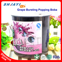 Bubble Tea Recipe Flavors Grape Popping Juice Bursting Boba Tapioca Ball Manufacturers