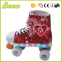 guangdong wholesale pvc wheel flashing kids electric quad skate