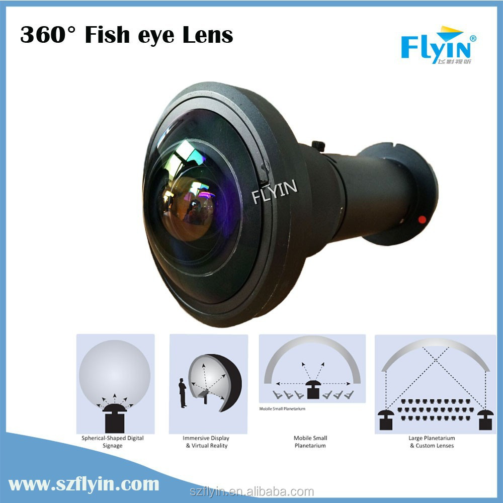 2015 solutions for multiple applications ,Ideal for projection on small planetarium domes 360 degree fisheye projector lens