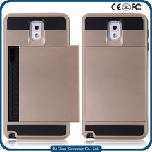 Factory price phone case cover TPU + PC phone case for Samsung Note3