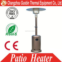 stainless steel quartz real flame pyramid garden patio heaters