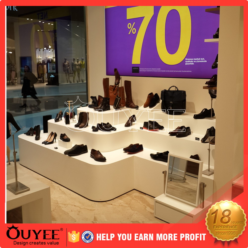 hot sale cozy handbag store interior decoration ouyee311 mobile shop display counter