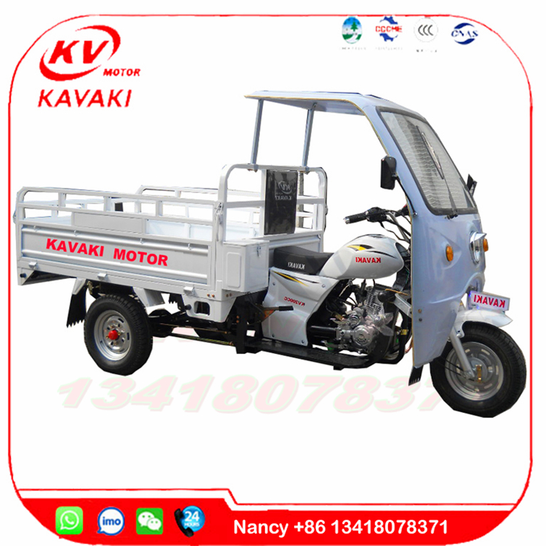 Wholesale Guangzhou famous KAVAKI brand cheap hot selling 150cc white cargo tricycle