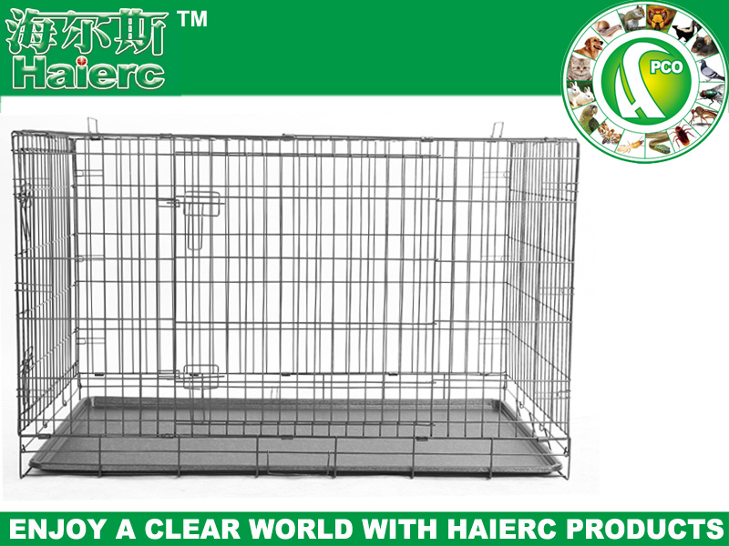 metal pet cages aluminium pet kennel two doors large animal cage