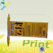 promotional adverting banner pen with lanyard and EVA grip