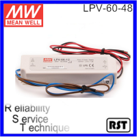 LPV-60-48 60W 48V original Single Output Switching waterproof Meanwell LED Power Supply
