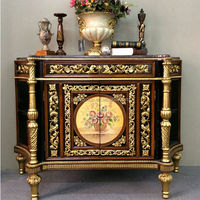 Luxury Antique Replica Console Table, Vintage Golden Foyer Entry Table, Classic Living Room Furniture BF11-0508b
