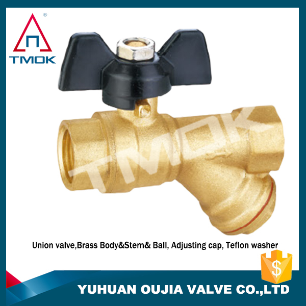 1/2 inch brass iron handle iron ball with polishing and ppr nicekl-plated ball valve chicken nipple drinkers