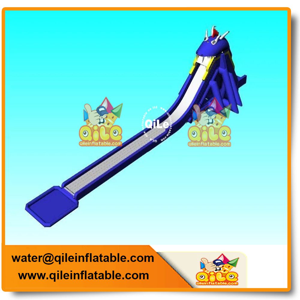 hot sale commercial amusement park equipment giant inflatable water slide connect with water pool