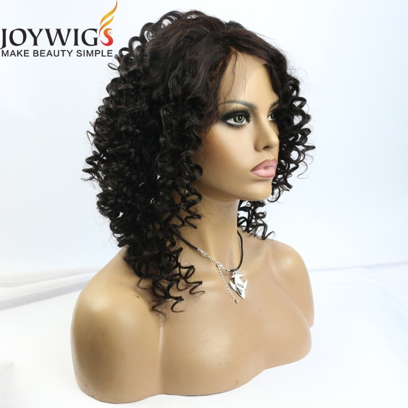 Top Grade Brazilian Virgin Human Hair Wig Naturl Color Afro Kinky Human Hair Wigs