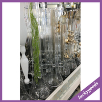 LHP013 wedding party table decoration clear tall glass vase wholesale
