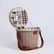 Europe style wicker vegetable storage gift 2 person picnic basket