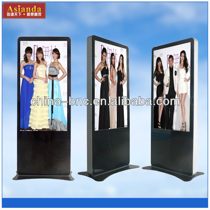 42inch Floor standing stand alone lcd digital signage advertising player for bus station