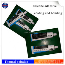 Waterproof thermal silicone glue for coating
