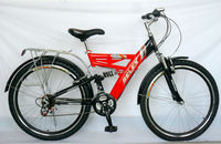 "new red bike/bicycle/cycle with rear carrier for hot sale 26"" SH-SMTB096"